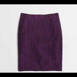 J Crew Factory floral lace Pencil skirt